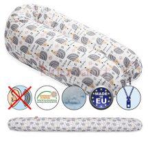 Scamp Formázható univerzális szoptatós párna pamut huzattal / HedgehogGrey