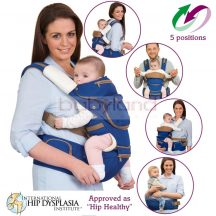 Clevamama Ergonomikus 5 pozíciós babahordozó