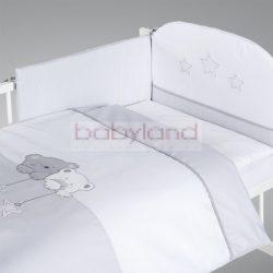 ALBERO MIO 5 részes ágynemű # Macik csillaggal szürke-fehér