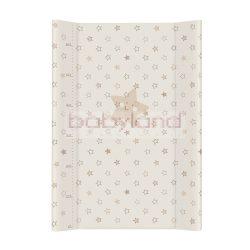 Ceba pelenkázó lap merev 2 oldalú 50x70cm – Bézs csillag