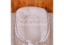 Tanita hagyományos babafészek # bézs masnis