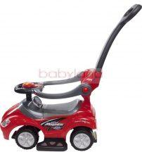 Sun Baby Mega Car szülőkormányos zenélő bébitaxi # Piros