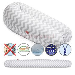 Scamp Formázható univerzális szoptatós párna pamut huzattal/ZigzagGreyWhite