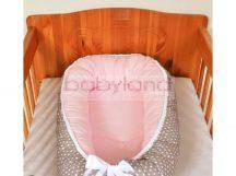 Tanita hagyományos babafészek # szürke – rózsaszín