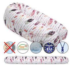 Scamp Formázható univerzális szoptatós párna pamut huzattal/FeatherPinkBrown
