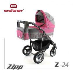 Adbor Zipp multifunkciós babakocsi 3:1 # Z 24 rózsaszín/ szürke