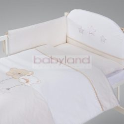 ALBERO MIO 5 részes ágynemű # Macik csillaggal bézs-fehér