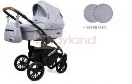 Luxbaby 3in1 Optimal Symbi multifunkciós babakocsi- Silver Flex