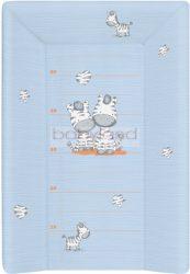 Ceba pelenkázó lap puha 3 oldalú 50x70cm - Zebra kék