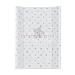 Ceba pelenkázó lap merev 2 oldalú 50x70cm – Szürke csillag
