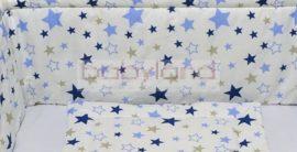 Bébi ágynemű garnitúra 3 részes # Kék csillag